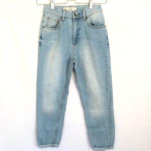 Topshop Moto Petite Mom High Rise Jeans 25